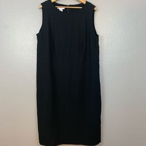 Calvin Klein Sleeveless Black Career Sheath Dress
